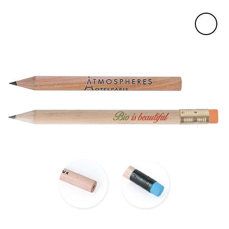 Crayon publicitaire rond vernis incolore - 8,7 cm