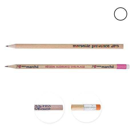 Crayon publicitaire rond vernis incolore - Eco 17,6 cm