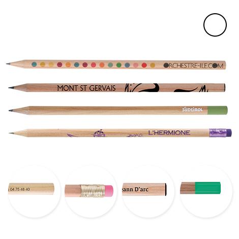 Crayon publicitaire rond vernis incolore - 17,6 cm