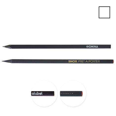 Crayon publicitaire carré - Prestige Black 17,6 cm