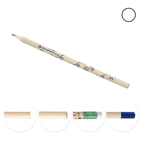 Crayon publicitaire bois français vernis incolore - 17,6 cm