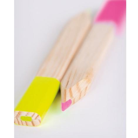 Surligneur publicitaire en bois français - Le Brio