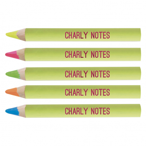 Crayon fluo publicitaire vernis pantone 8.7 cm
