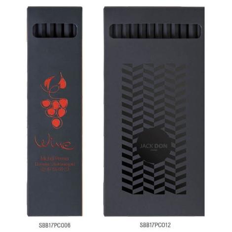 Etui crayons de couleur publicitaire 17,6 cm - Hexa Black