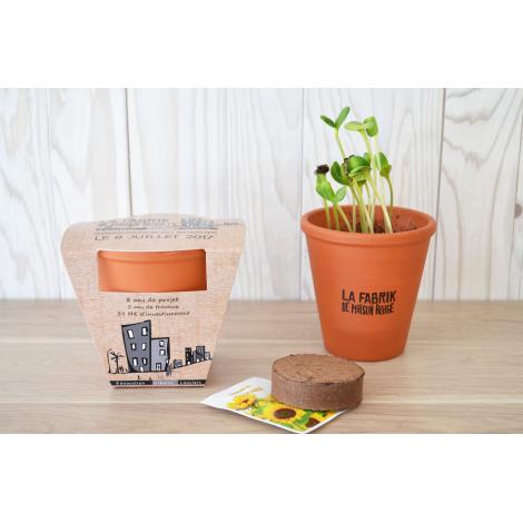Kit de plantation publicitaire en terre cuite
