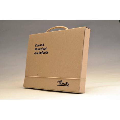 Valisette en carton personnalisable - Brut Naturel