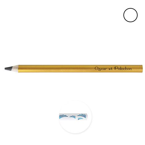 Crayon de bois personnalisé Pantone - Big Graphite 17,6 cm