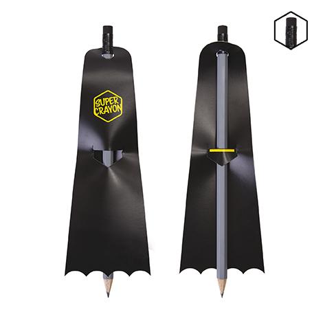 Crayon publicitaire vernis gris - Super Crayon BAT