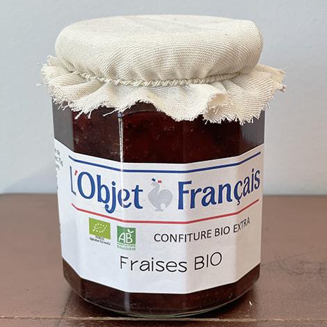 Confiture de fraises bio publicitaire - 335 gr