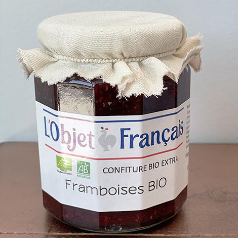 Confiture de framboises bio personnalisable - 335 gr