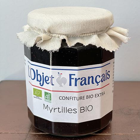 Confiture de myrtilles bio personnalisées - 335gr