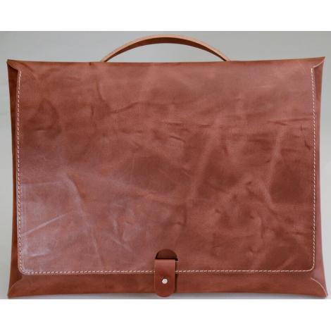 Sacoche publicitaire en cuir recyclé